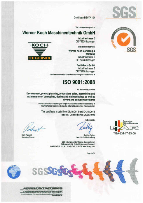 Certificate ISO ENGLISH